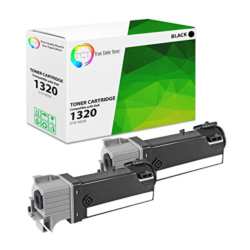 TCT Premium Compatible Toner Cartridge Replacement for Dell 310-9058 Black Works with Dell 1320 1320C 1320CN Printers (2,000 Pages) - 2 Pack