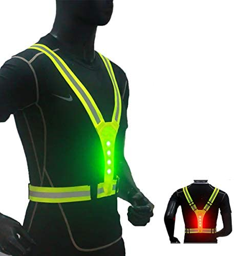 NeatTimes LED Reflective Harness Vest USB Rechargeable for Running Cycling Hiking in Night Sport product image