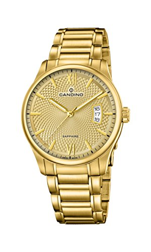 Candino Herren Datum klassisch Quarz Uhr mit Edelstahl Armband C4692/2