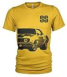 Chevrolet Camaro SS '69 Grunge T-shirt pour homme - Jaune - X-Large