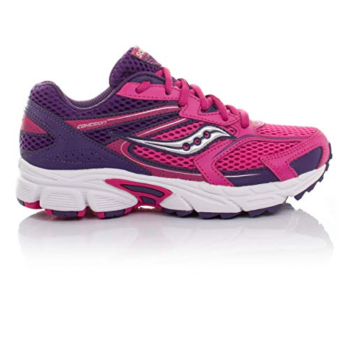 Saucony Cohesion 9 Girls Trainers Pink/Purple
