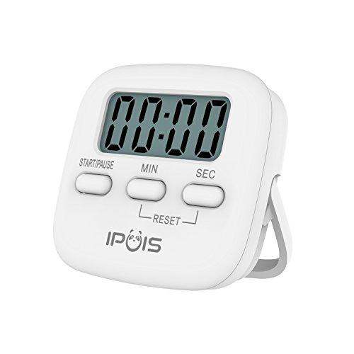 IPUIS Mini Cooking Timer Kitchen Timer Digital Large LCD Display Loud Alarm Timer Magnetic Cooking Timer