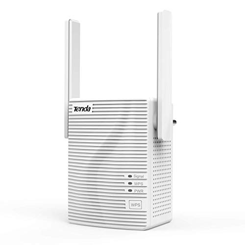 Tenda A15 Repetidor Extensor de Red WiFi (Dual Band 2,5Ghz 5GHz 100Mbps Puerto Fast Ethernet, Doble Antenas)