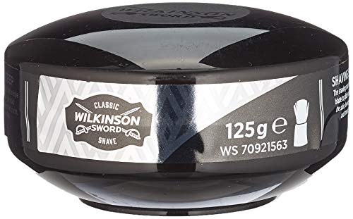 Wilkinson Sword Rasierseife im Tiegel Vintage Edition - besonders ergibig - sanft und für alle Hauttypen 125g