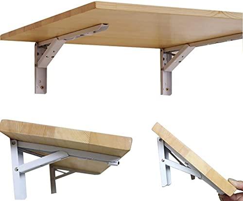 DZCGTP Mesa de Comedor de Madera Maciza montada en la Pared, Simple y Moderna, Color Madera Natural, tamaño múltiple