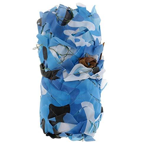Caza Ciega Camuflaje Lona, caza De Caza De Caza De Caza Ghillie Manta Camo Lona Impermeable, Para Disparar A Través De Camuflaje De Caza De Caza Decoraciones De L(Size:2x3m/6.5x9.8ft,Color:Oceano)