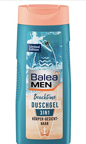 Balea MEN - Duschgel Beachtime 3in 1 Körper, Gesicht, Haar - 1 x 300 ml (vegan)
