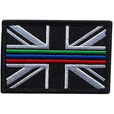 Thin Blue Line Police Union Jack Hook and Loop backed patch UK Badge