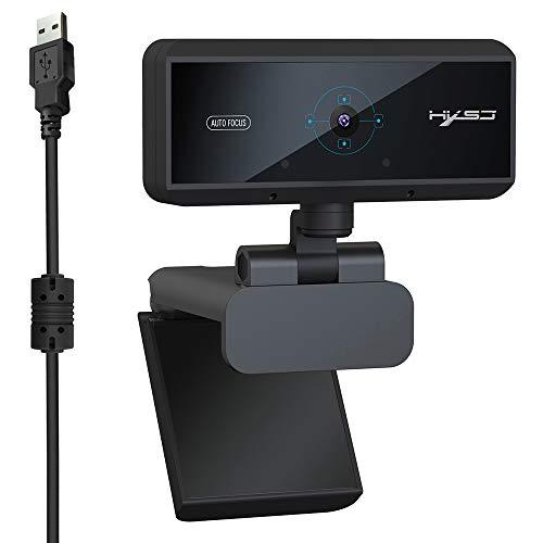 Cytech Webcam HD 1080P, 360 Grado Ajustable con micrófono Integrado USB cámara para Escritorio PC portátil Skype Chatear Video Conferencia