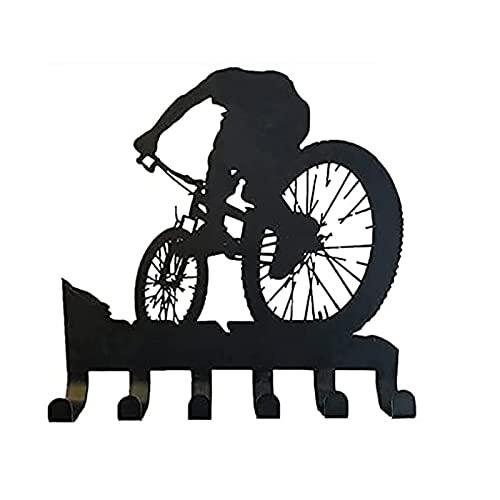 Mountain Bike Gear Rack Metal Wall Hook Decor, Mountain Bike Gear Rack Wall Art, Key Hangers for Wall Decor (1pc)