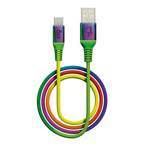 Cabo USB TIPO-C TC10RB, ELG, Colorido