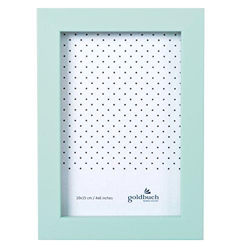 goldbuch Bilderrahmen Fresh Summer, Fotorahmen für Bild im 10x15 cm Format, Portraitrahmen mit Aufsteller, Einzelrahmen aus Kunststoff, Foto Rahmen, aquamint, ca. 12,8 x 17,8 x 24 cm