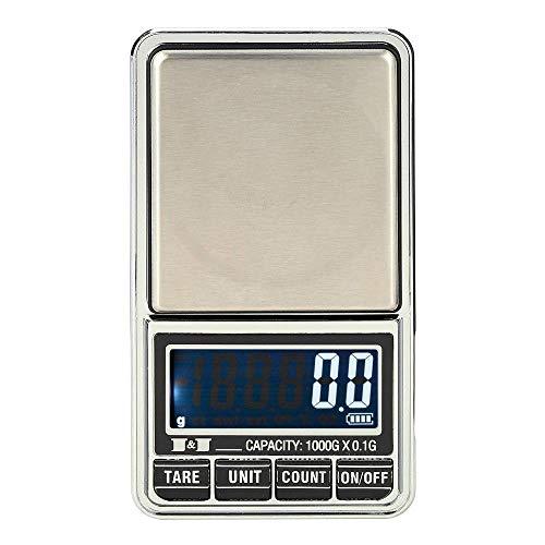 1000g * 0,1g Mini Digitalwaage Waage Pocket Balanza Schmuck Elektronische Waage Precision Joyeria Balance Pesas Bascula Waage