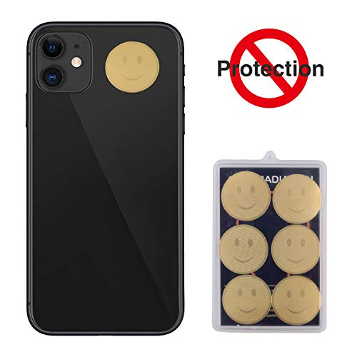 EMF Protection Cell Phone Sticker,Layoo EMF Blocker for Mobile Phones, iPad, MacBook, Laptop and All Electronic Devices(6 Pack)