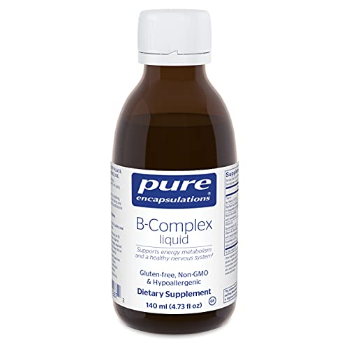 Pure Encapsulations B-Complex Liquid | B Vitamins to Support Energy, Nervous System, Memory, Cellular, and Cardiovascular Health* | 4.73 fl. oz.