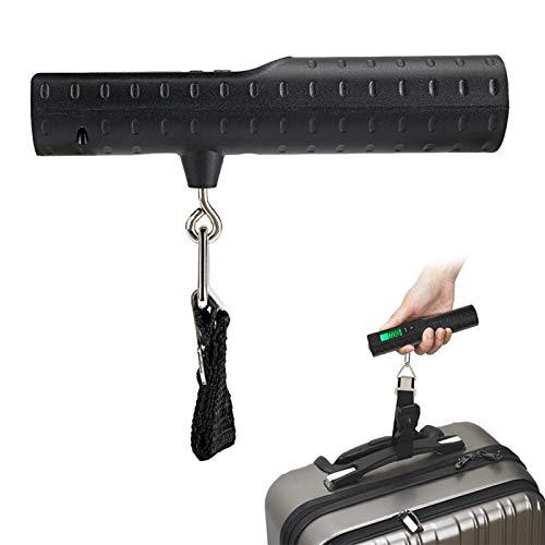cigemay Báscula de Equipaje, báscula de Equipaje electrónica Recargable de 50 kg / 110 LB, para pesaje de Maletas con Banco de energía portátil de 2200 mAh
