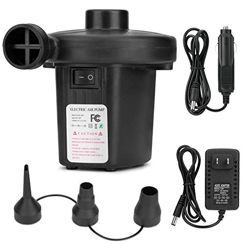 Bestrip Electric Air Pump, Portable Pump for Inflatables Air Mattress Couch Pool Floats,Inflatables Boat Raft Toys, AC/DC Pump