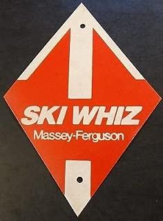 VINTAGE MASSEY-FERGUSON SKI WHIZ SNOWMOBILE TIN REFLECTIVE TRAIL MARKER (317)