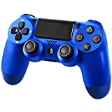 YHT Wireless Pro Controller for PS4, Playstation 4 Controller Remote Control Gamepad with Dual Shock Touch Panel Audio Function and USB Cable Compatible with PS4/PS4 Pro/PS4 Slim (Blue)