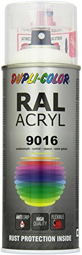 Dupli-Color 641909 RAL-Acryl-Spray,RAL 9016, 400 ml, Verkehrsweiß Seidenmatt