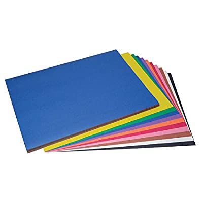 """SunWorks PAC6518 Construction Paper, 10 Assorted Colors, 18"""" x 24"""", 100 Sheets"""