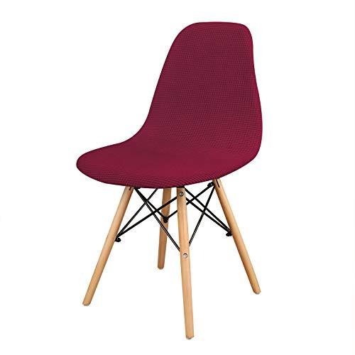 Leorate Funda elástica de forro polar para silla de salón, diseño de tulipán, para comedor, cocina, decoración del hogar (2)