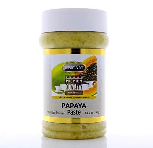 HEMANI   Fresh Raw Green Papaya Paste 26.5 OZ (750g) - Natural Meat Tenderizer for Cooking & Marinade   PREMIUM QUALITY
