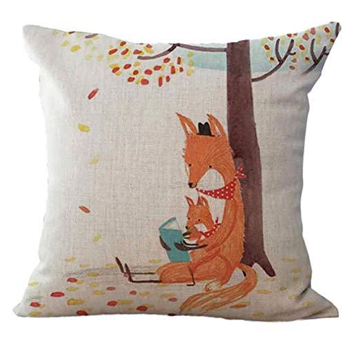 Cojín Lanzar Escudo Fox Patrón Funda De Almohada Plaza Home Sofá Decoración Animal Creativo Almohada Escudo Ideal Opción Práctica
