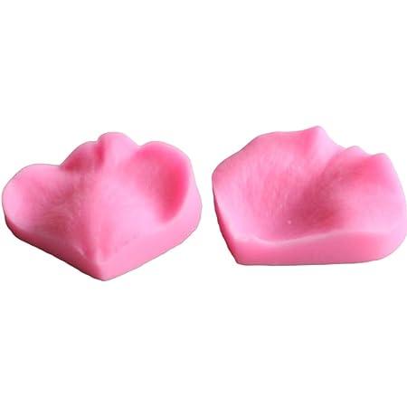 BESTONZON 2Pcs Petal Silicone Cake Mold DIY Fondant Mousse Dessert Chocolate Mould Tray (Pink)