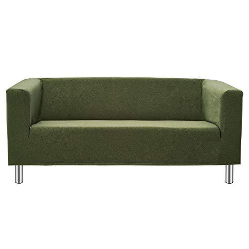 Panana 2 Seater Sofa Or 3 Seater Sofa Compact Sofa Corner Sofa for Living Room Flat Modern Simple Design Sofa with Chrome Legs (Green, 3 Seater)