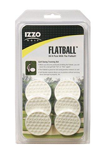 Izzo Golf Flatball Swing Golf Training Aid, White
