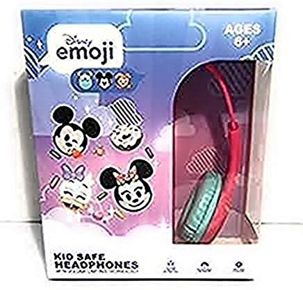 Emoji Kid Safe Headphones with Volume Limiting Technology (Hot Pink & Turquoise)
