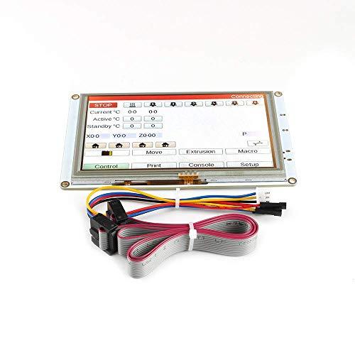 BCZAMD Ricevitore per stampante 3D Clon 7 pollici pannello touch screen 7i Display LCD a colori integrato per DuetWifi Duet 2 Ethernet