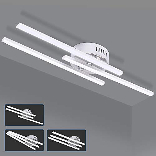 ALLOMN Plafoniera a LED, 21W Lampada Lampadario Moderna Plafoniera di Design a Strisce Parallele con Luce a Strisce Parallele 3 Pezzi per Soggiorno Camera Letto Sala da Pranzo (3 Luci Bianco Freddo)