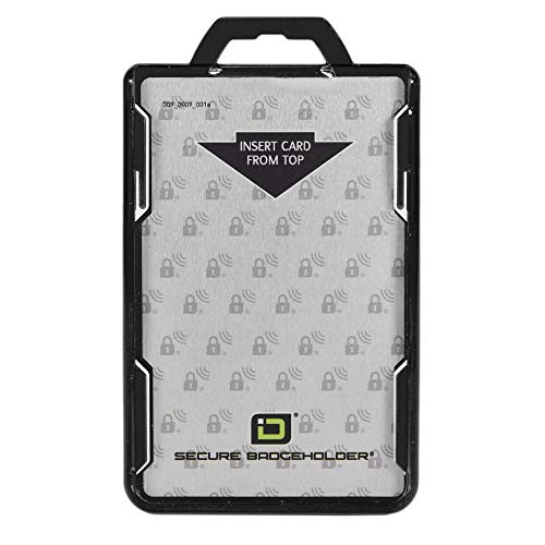 ID Stronghold - RFID Blocking Secure Badge Holder - Duolite 2 Card ID Holder - Poly Carbonate - Heavy Duty Hard Plastic ID Badge Holder - USA Molded and Assembled - FIPS 201 Approved - Black