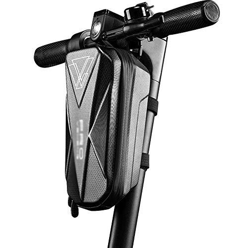 ZHNA Fahrrad-Frontseiten-Beutel-große Kapazitäts-Hartschalen-Beutel PU-Frontträger-Tasche Reitausrüstung Zubehör, Geeignet for Motorroller, Klappfahrräder, Elektrofahrzeuge (Color : Extra Large)