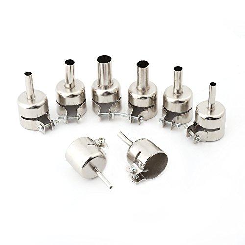 8pcs / set boquillas de pistola de calor kits boquillas para herramientas de reparación de estaciones de soldadura de aire caliente (3/4/5/6/7/8/10 / 12mm)
