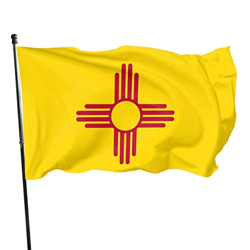 huatongxin Garden Flag 3 X 5 Ft Flagge von New Mexico Home Decoration Robustes Polyester für Outdoor/Indoor/Garden