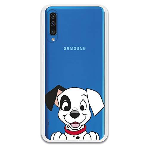 Funda para Samsung Galaxy A50 Oficial de 101 Dálmatas Cachorro Sonrisa para Proteger tu móvil. Carcasa para Samsung de Silicona Flexible con Licencia Oficial de Disney.