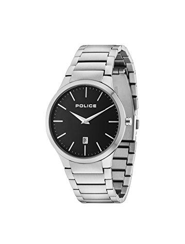 Police Herren Datum klassisch Quarz Uhr mit Edelstahl Armband 15246JS/02M