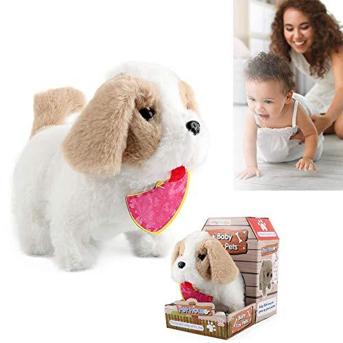 Robot speelgoed hond, elektronisch honden speelgoed, pluche knuffel honden speelgoed, interactieve puppy pluche geanimeerde hond, aanraakbediening, robot hond voor jongens meisjes kinderen,B