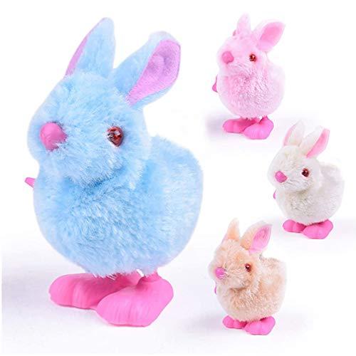 Naponior 1 x Oster-Spielzeug zum Aufziehen, springender Plüschhase für Osterkorb, Schatztruhe, Preise, Oster-Partygeschenke und Ostergeschenke.