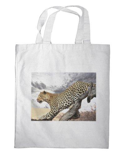 Merchandise for Fans boodschappentas - 38x42cm, 8 liter - Thema: Leopard in Afrika [01 ]