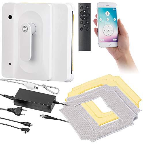 Sichler Haushaltsgeräte Fensterputzroboter: Profi-Fensterputz-Roboter PR-040 mit Bluetooth, App & Sicherungs-Seil (intelligente Fensterputzroboter)