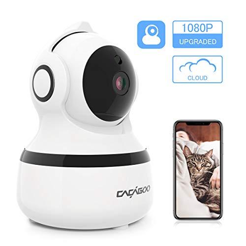ÜberwachungsKamera innen WLAN Handy, CACAGOO 1080P WLAN IP Kamera Bewegungserkennung WLAN Kamera...