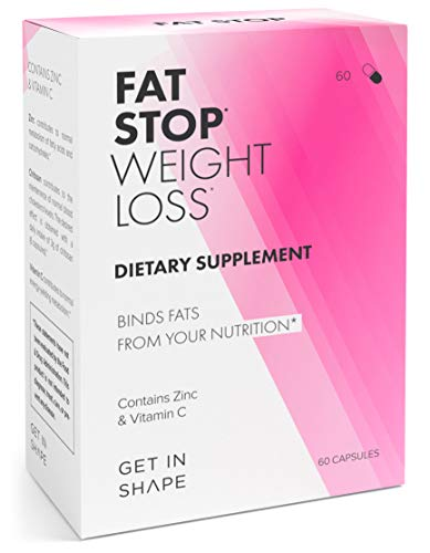 FAT STOP – Weight Loss Pills that Bind Fats from Food and Reduce Calorie Intake (Fat Blocker with Chitosan, high Dosage). - Weight Loss Supplements by GET IN SHAPE