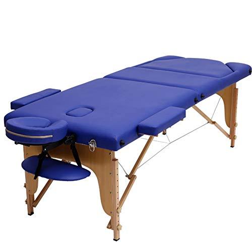 Massagebed 8-voudig in hoogte verstelbaar inklapbaar afneembare hoofdsteun en armleuning Beauty slaapbank pijnverlichting