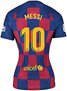 BADAWO 2019-2020 Barcelona #10 Messi T Shirt Home Womens Soccer Jersey Red/Blue