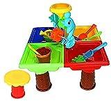 PiniceCore Scavando Mare Bambini Benna di Acqua Clessidra Gioco della Sabbia della Spiaggia di Estate Tabella Toy Set Desk Giardino per I Bambini All'aperto