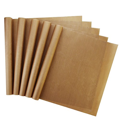 5 Pack Non Stick Teflon Sheet, Bantoye 16 x 24' PTFE Transfer Sheet Heat Resistant Craft Mat for Heat Press